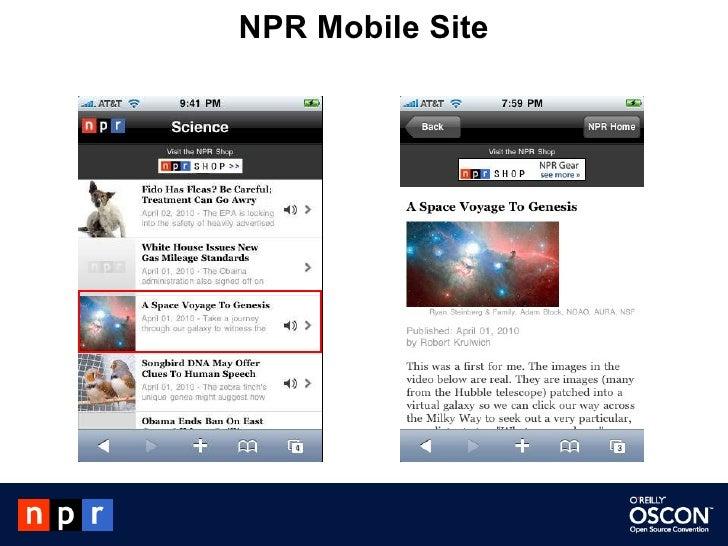 NPR Mobile Site