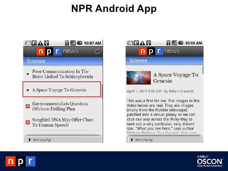 NPR Android App