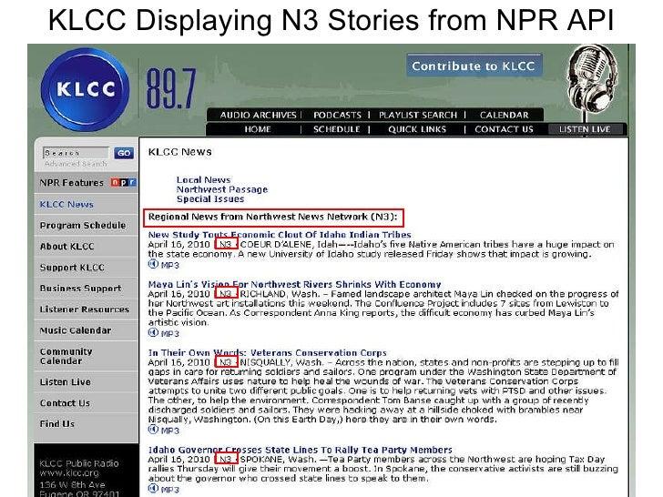 KLCC Displaying N3 Stories from NPR API