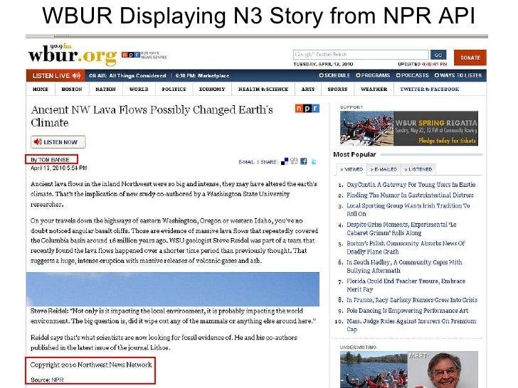WBUR Displaying N3 Story from NPR API