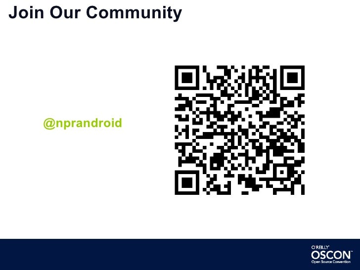 Join Our Community @nprandroid