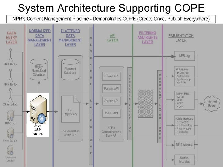 System Architecture Supporting COPE Java JSP Struts