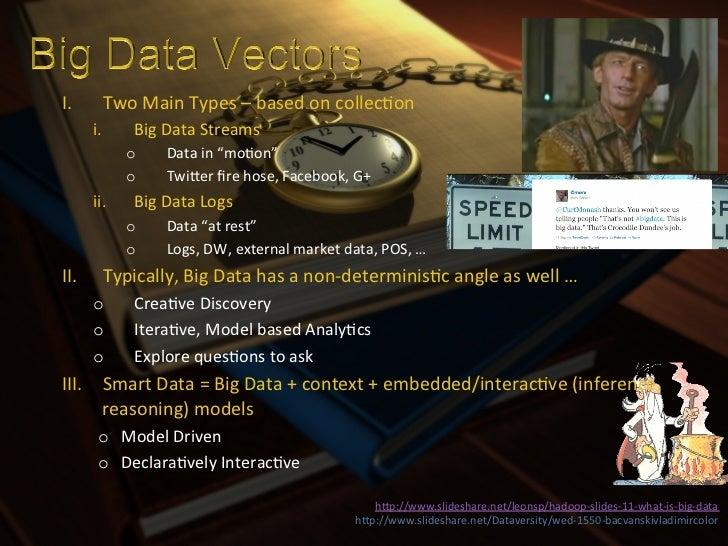 I.      Two Main Types – based on collecXon        i.     Big Data Streams               o      Dat...