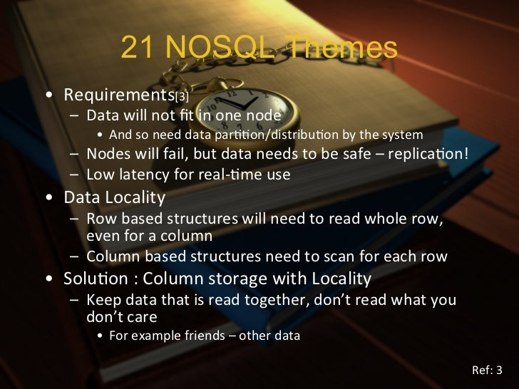 ABCs of NOSQL -  ACID, BASE &  CAPThe woods are lovely, dark, and deep,           But I have promises to keep,        And ...
