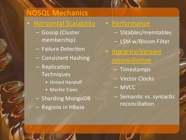 "Consistent Hashing • Origin: web caching ""To decrease 'hot    spots' • Three goals[87]     – Smoo..."