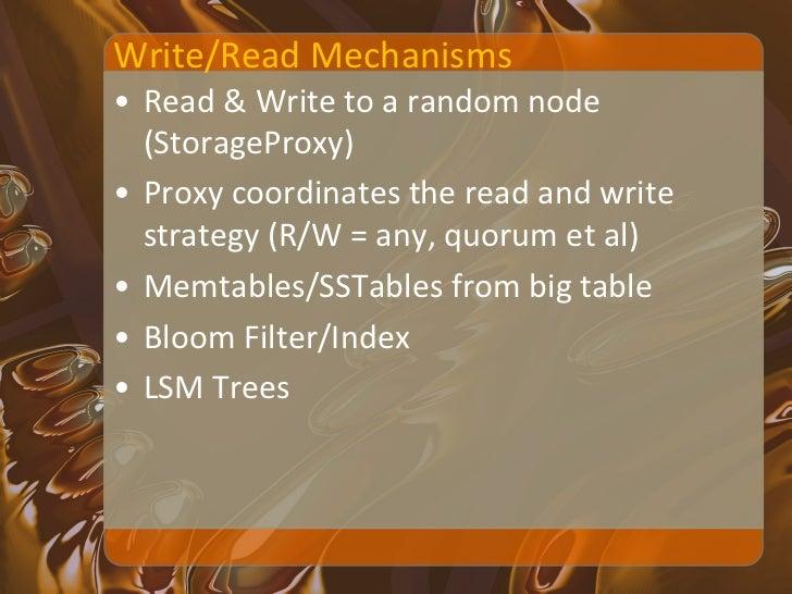 Hbase – WAL,   Node                Write                Memstore, HDFS File                                            sys...