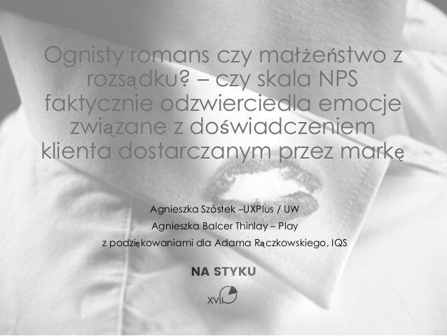 Agnieszka Szóstek –UXPlus / UW Agnieszka Balcer Thinlay – Play z podziękowaniami dla Adama Rączkowskiego, IQS Ognisty roma...