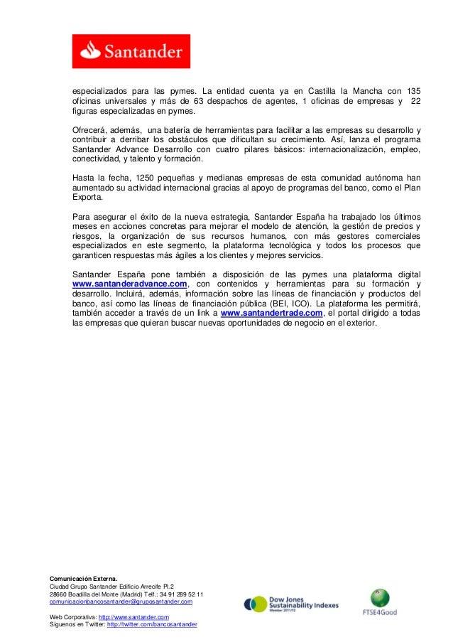 Santander destina millones de cr dito a las pymes for Importancia de la oficina dentro de la empresa wikipedia