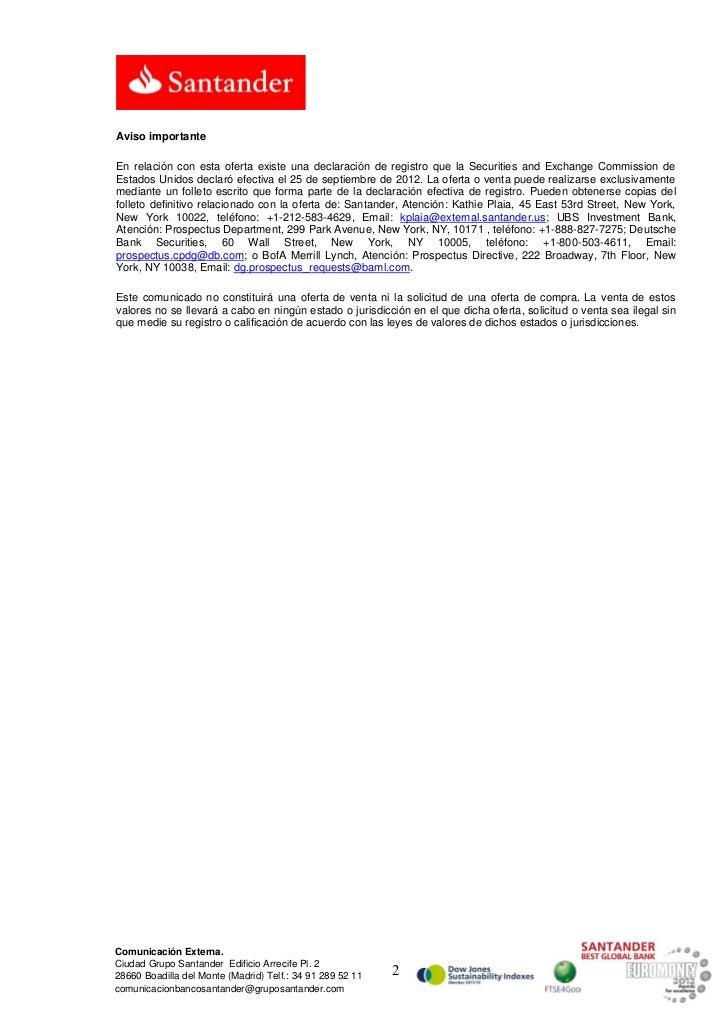 Aviso importanteEn relación con esta oferta existe una declaración de registro que la Securities and Exchange Commission d...
