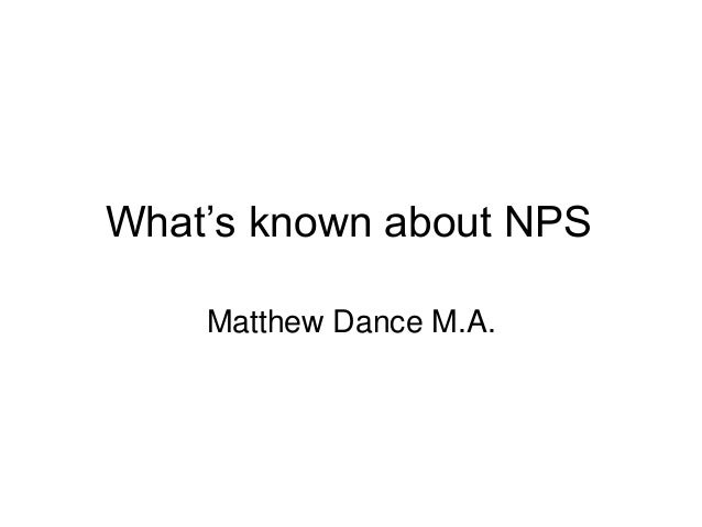 """What""""s known about NPS Matthew Dance M.A."""