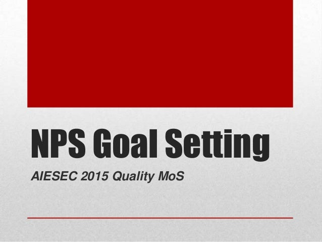 NPS Goal Setting AIESEC 2015 Quality MoS