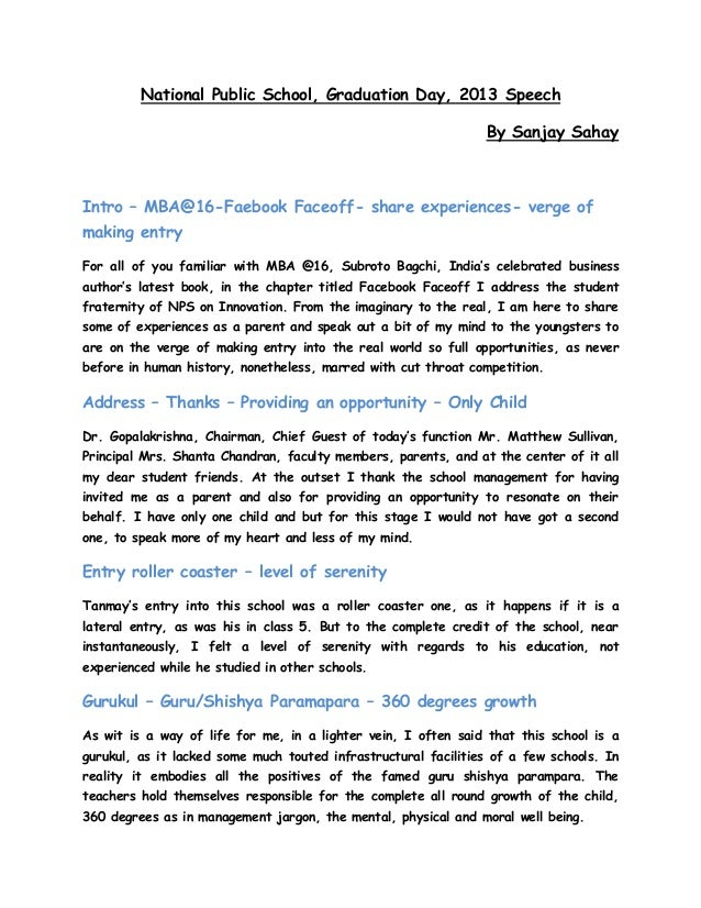 farewell speech of a 4th year student Get access to farewell speech for senior batch by junior student essays only from anti essays listed results 1 - 30  mary beth, a thirteen-year-old junior-high .