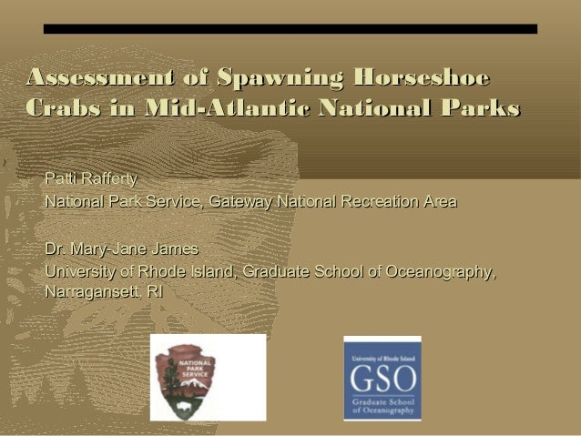 Assessment of Spawning HorseshoeAssessment of Spawning Horseshoe Crabs in Mid-Atlantic National ParksCrabs in Mid-Atlantic...