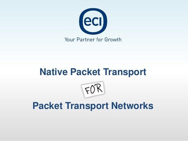 Native Packet TransportPacket Transport Networks