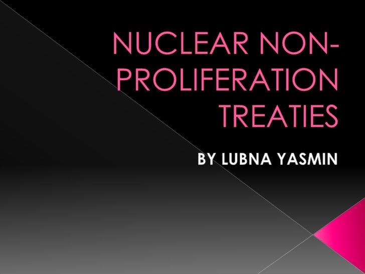 Essay on nuclear non-proliferation