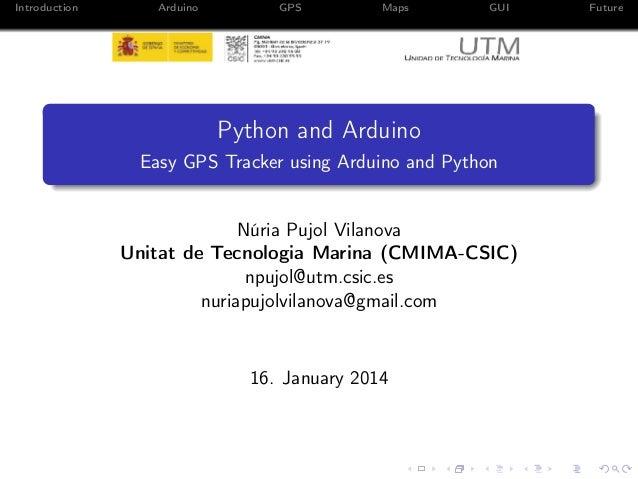 Easy GPS Tracker using Arduino and Python