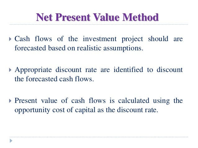 Net present value and materials price
