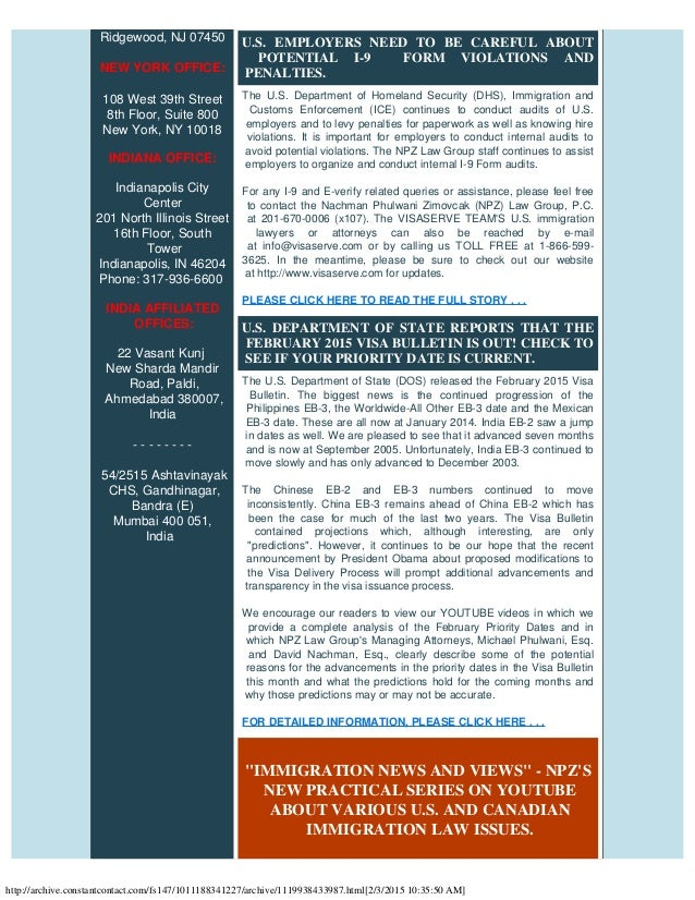 NPZ LAW GROUP'S MONTHLY U.S. & CANADIAN IMMIGRATION LAW UPDATES: h-1…