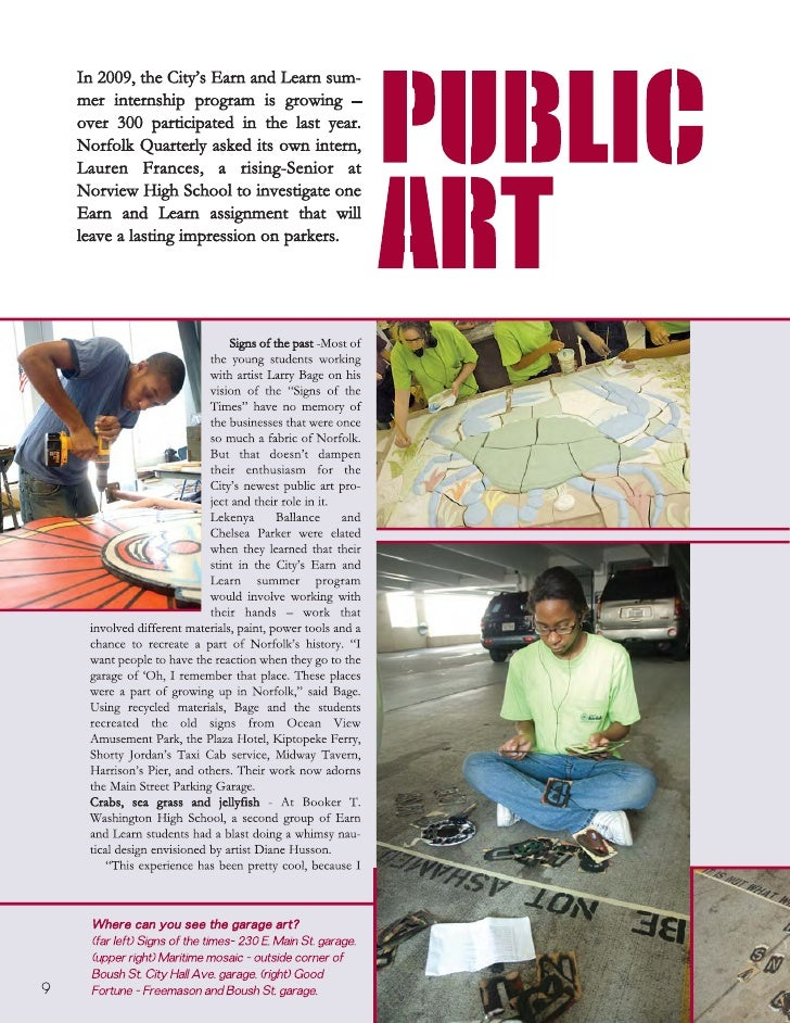 Norfolk's Public Art Earn and Learn Program