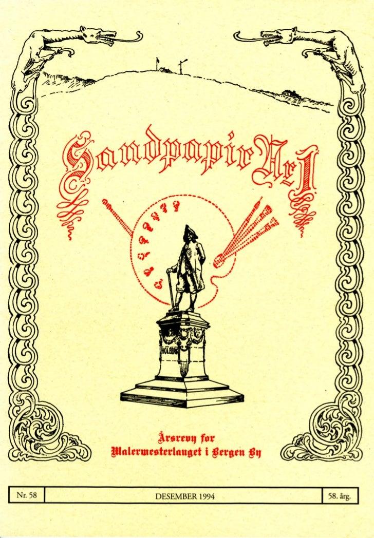Sandpapir Nr. 58 1994
