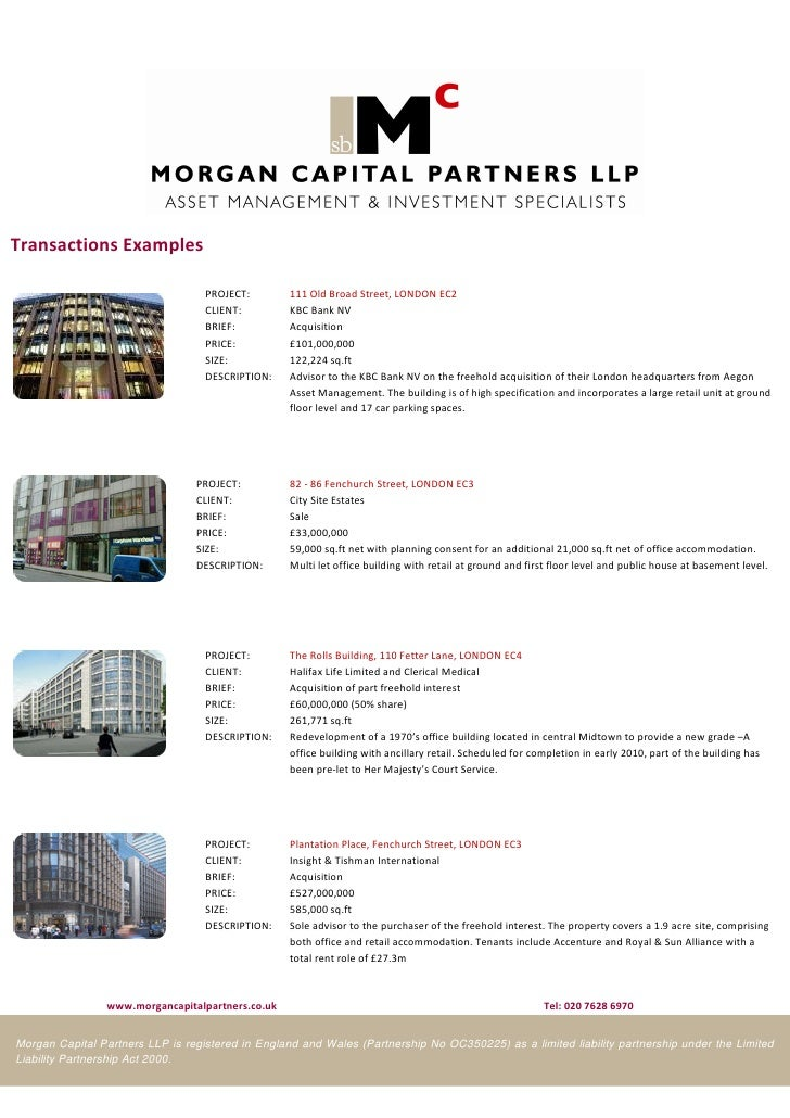 Morgan Capital Partners introduction