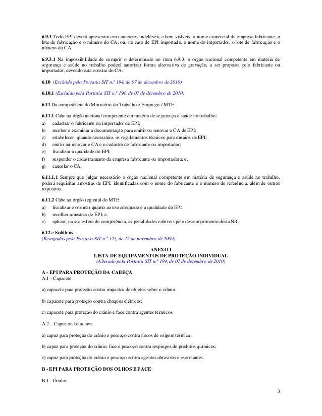 Nr 6 Equipamento de proteção individual - IKAIKA EPI 8d9ad49ed6