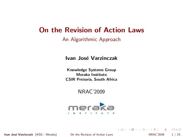 On the Revision of Action Laws                                       An Algorithmic Approach                              ...