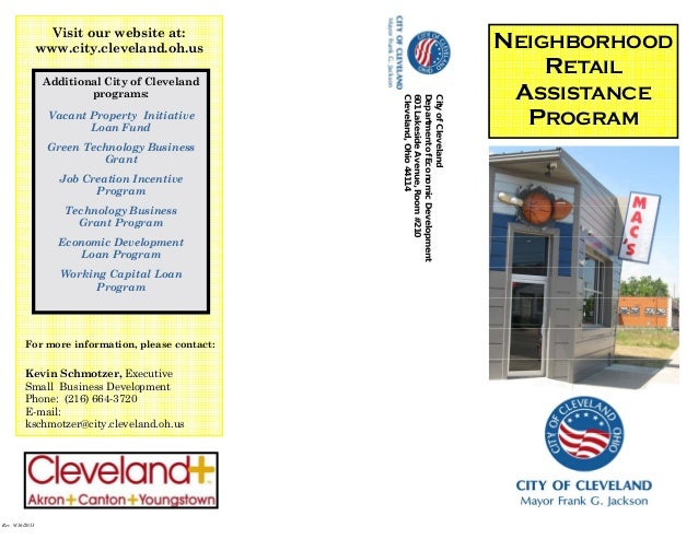 Rev. 9/16/2013 CityofCleveland DepartmentofEconomicDevelopment 601LakesideAvenue,Room#210 Cleveland,Ohio44114 Visit our we...
