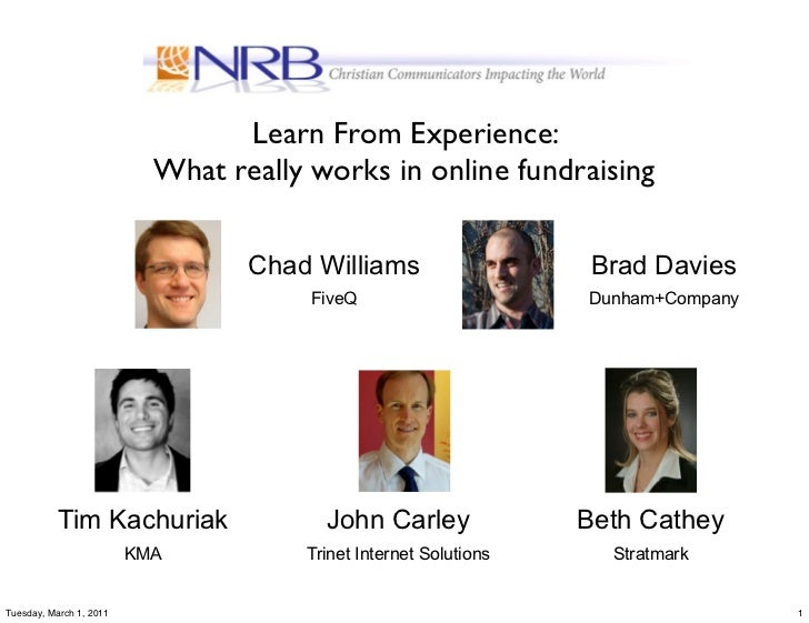 Learn From Experience:                           What really works in online fundraising                                  ...