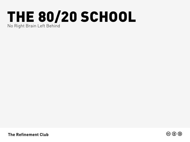 THE 80/20 SCHOOLNo Right Brain Left BehindThe Refinement Club