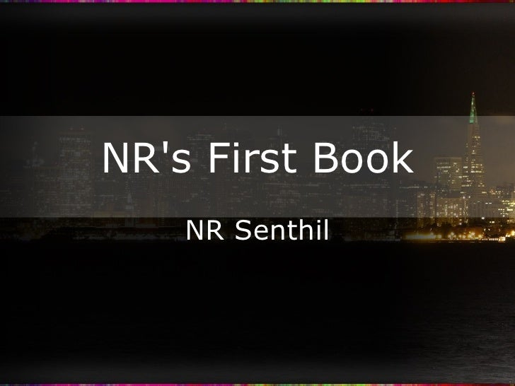 NR's First Book NR Senthil