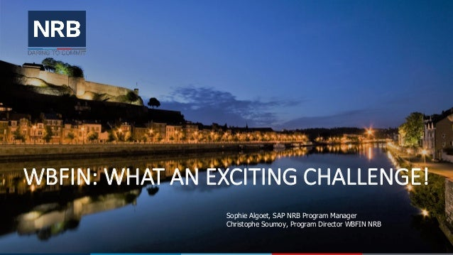 NRB Sap Day 03/10/2019 - Wbfin What An Exciting Challenge