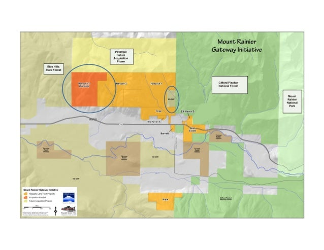 Map of the Mount Rainier Gateway Initiative