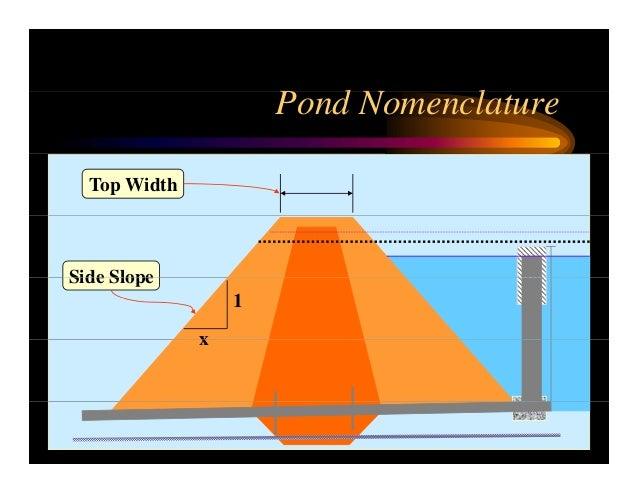 Nrcs pond construction for Pond dam design