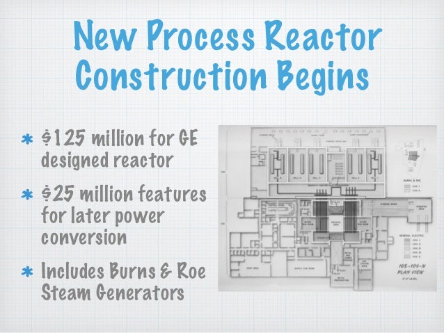New Process Reactor Construction Begins $125 million for GE designed reactor $25 million features for later power conversi...