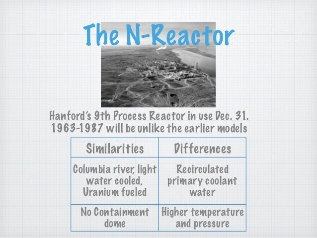 The N-Reactor Hanford's 9th Process Reactor in use Dec. 31. 1963-1987 will be unlike the earlier models Columbia river, li...