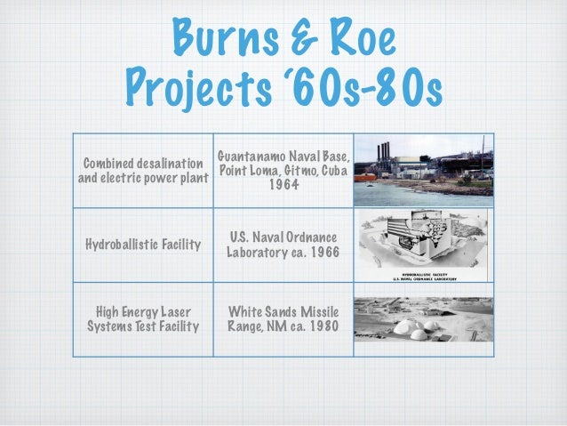 Burns & Roe Projects '60s-80s Combined desalination and electric power plant Guantanamo Naval Base, Point Loma, Gitmo, Cub...