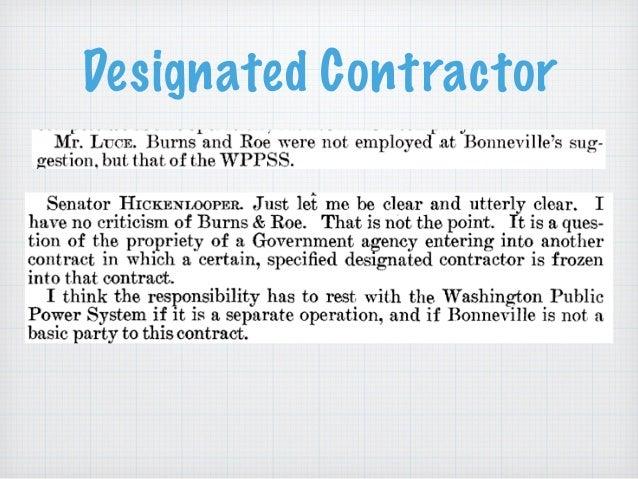 Designated Contractor