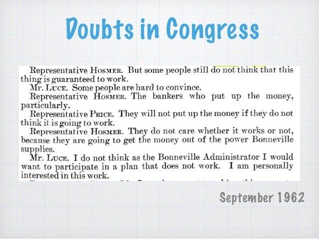 Doubts in Congress September 1962