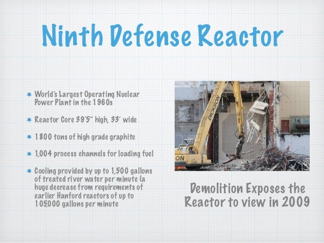 """Ninth Defense Reactor World's Largest Operating Nuclear Power Plant in the 1960s Reactor Core 39'5"""" high, 33' wide 1800 to..."""