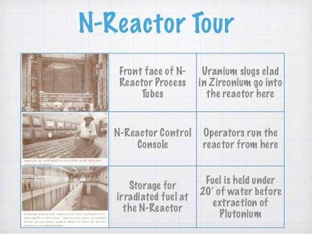 N-Reactor Tour Front face of N- Reactor Process Tubes Uranium slugs clad in Zirconium go into the reactor here N-Reactor C...
