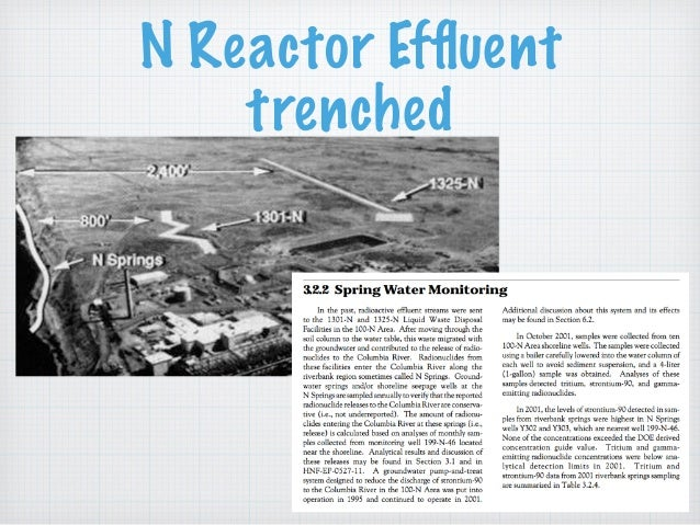 N Reactor Effluent trenched