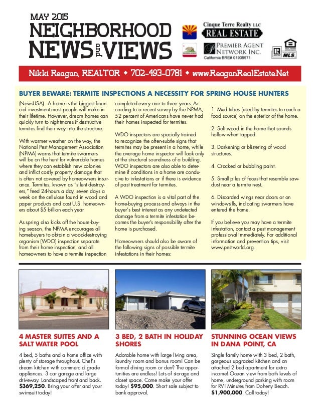 Bullhead City Neighborhood News And Views Real Estate Newsletter