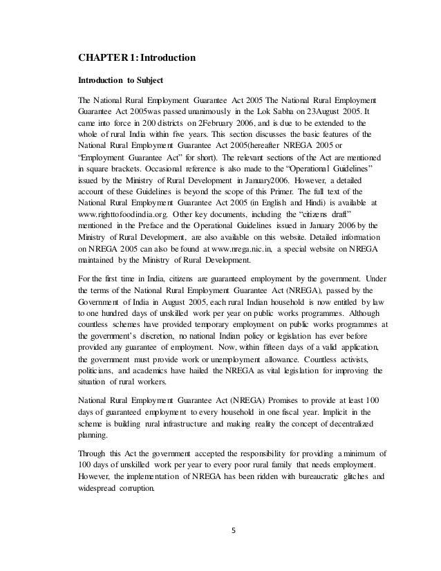 nrega 2005 case study