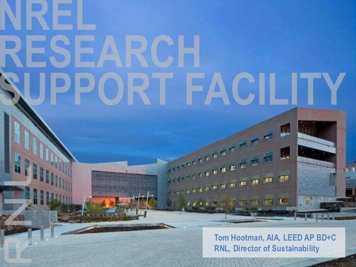 Tom Hootman, AIA, LEED AP BD+CRNL, Director of Sustainability