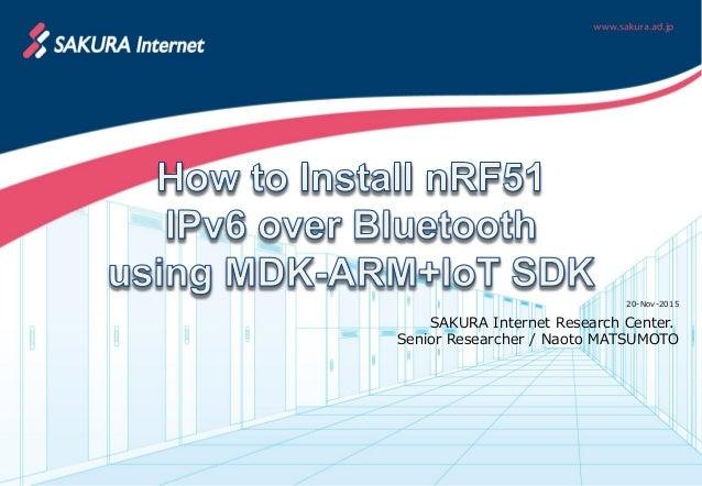 How to Install nRF51 IPv6 over Bluetooth using MDK-ARM+IoT SDK