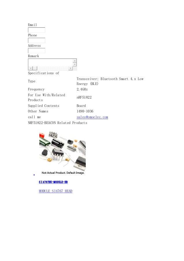 NRF51822-BEACON -Nordic Semiconductor ASA- omoelec com