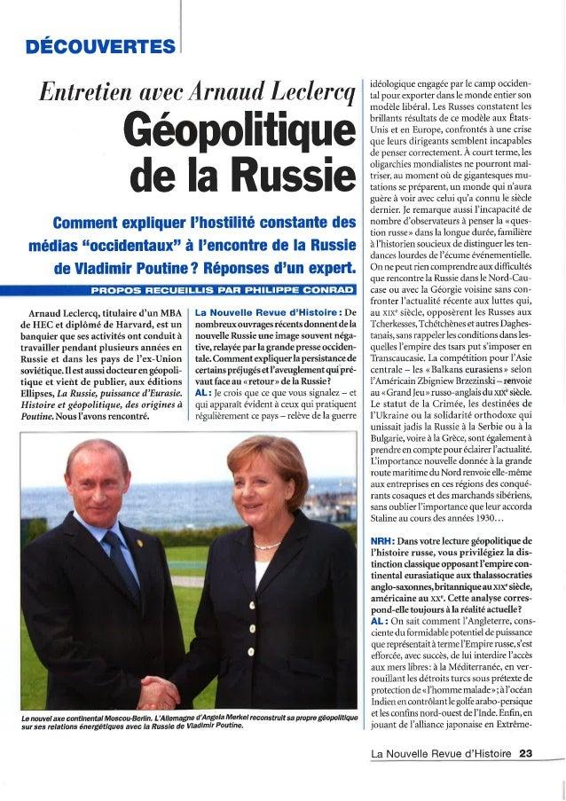 Géopolitique de la Russie : entretien avec Arnaud Leclercq