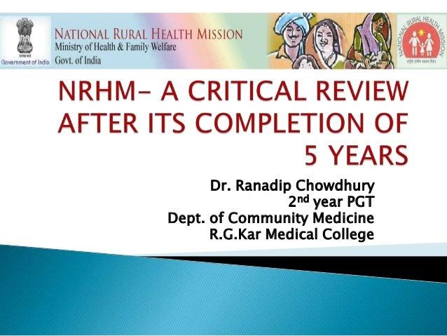 Dr. Ranadip Chowdhury2nd year PGTDept. of Community MedicineR.G.Kar Medical College