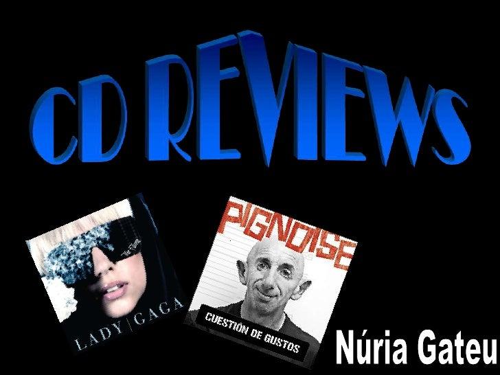 CD REVIEWS<br />Núria Gateu<br />